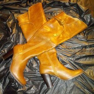 Rialto Violet Brown Women's Heeled Boots Sz 9M